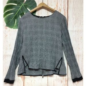 5/$25 Zara Basic Collection Crinkle Blouse Top
